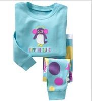 Free shipping ,6 set /lot,Spring /autumn New style Penguin Children Pyjamas ,100% cotton baby pajamas set, Children Sleepwear