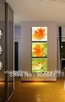 Framed & Free Shipping Oil Painting 105cmx35cm Flowers Orange Daisy Canvas Hand-painted wall art Deco Art HD076