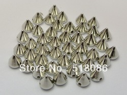 1000Pc Silver Tone Metallic Rock Punk Spike Rivet Acrylic Taper Stud Beads 6X6mm ,ANB-009(China (Mainland))