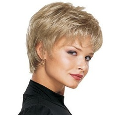 new fashion sexy popular blonde short healthy full cosplay party women's wig/wigs+free hair cap(China (Mainland))