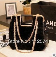 New black sweet  vintage chain shoulder bag