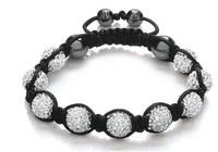 Shamballa jewelry Wholesale, free shipping, New Shamballa Bracelets Micro Pave CZ Disco Ball Bead Shamballa Bracelet