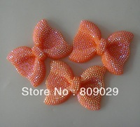 30pcs/lot flat back resin cabochon bows for phone DIY decoration