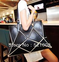 2013 Fashion Lady individual character splicing shoulder bag handbag messenger bag  tote bag