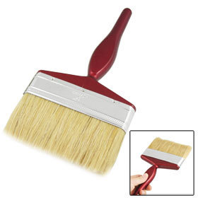 "5"" Wide Beige Bristle Dark Red Handle Paint Brush Painting Tool 2 Pcs free shipping(China (Mainland))"