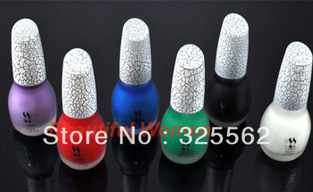 6 Colors Sexy Crack Nail Polish Art Crackle Shatter New Fashion 2085