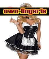 capivating french dress naughty girls costume for maid hot sales