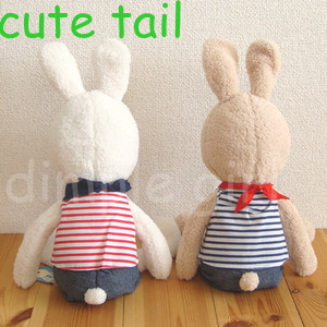 1pc 30cm japanese style long ears le sucre rabbit plush soft toys stuffed bunny with scarf t shirt wedding doll gift Birthday(China (Mainland))