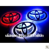 Fashion car badge light with original emblem for Toyota/CROWN/YARIS/REIZ/VIOS Car LED rear logo light