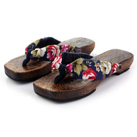 Summer flip clogs women's slippers wood flat heel slippers clogs socks -Free Shipping