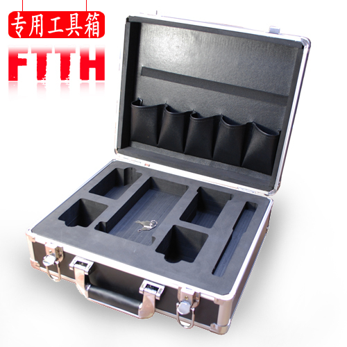 Ftth covered wire tool box fiber optic fusion splicer tools fiber optic cable splicing machine tools fiber cleaver(China (Mainland))