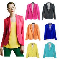 Women jacket ,women blazer Women COAT suit casual jackets women clothes suit one button cardigan coat NEW 2014 blazer