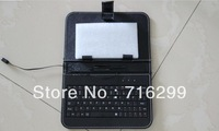 50pcs/Lot - High quality 7 inch tablet pc Protective leather Keyboard Case for mini notebook