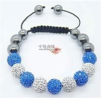 Shamballa jewelry Wholesale New Crystal Shamballa Bracelets Micro Pave CZ Disco Ball Bead,Shamballa Bracelet Free shipping  WD36