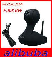 Foscam FI8916W Wireless CCTV IP Camera, webcam Built-in Microphone WIRELESS 802.11b/g/n BLACK