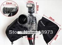 Hot sale! Camera Rain Cover Coat Dust Protector Rainwear Rainproof for CANON NIKON + free shipping