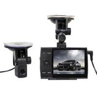 "720P dual lens Car DVR 3.5"" LCD Seperate Rearview Camera recorder vehicle Cam"