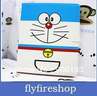 For ipad mini ultra-thin leather case protective case DORAEMON cartoon case cute cartoon case cover 30pcs/LOT free shipping