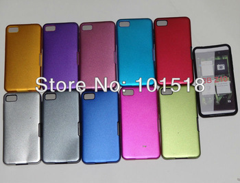 50pcs/lot Free shipping Aluminum Metal Silicon Cover Case for  BlackBerry Z10 BB 10