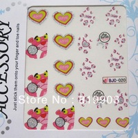 New arrival 3d watermark nail art applique finger water transfer printing smd christmas halloween bjc series