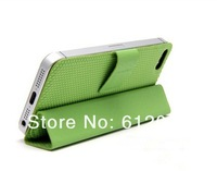 Wholesale! Sample Ultra Slim Folio Blasket Texture Magnetic Mini Smart Cover Stand Leather Case For iPhone4/4S  Freeshipping