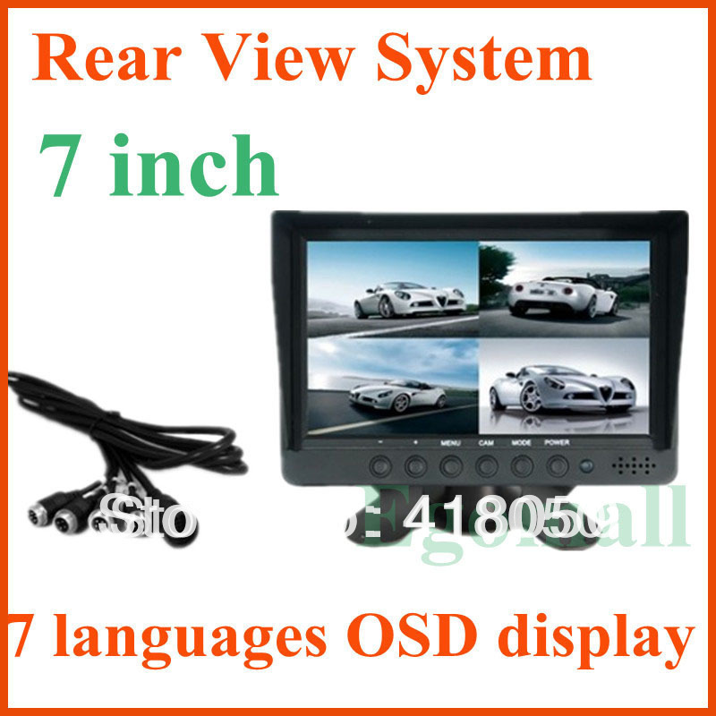 20137 inch TFT LCD monitor Bus Truck Rear View System support 7 languages OSD display S693(China (Mainland))