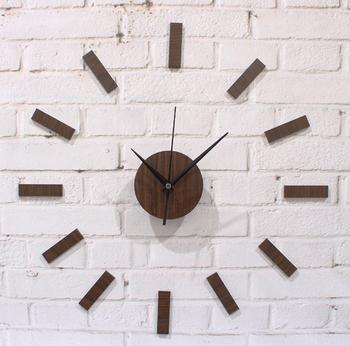 2013 Rustic wood diy wall clock diy clock table fashion brief mute