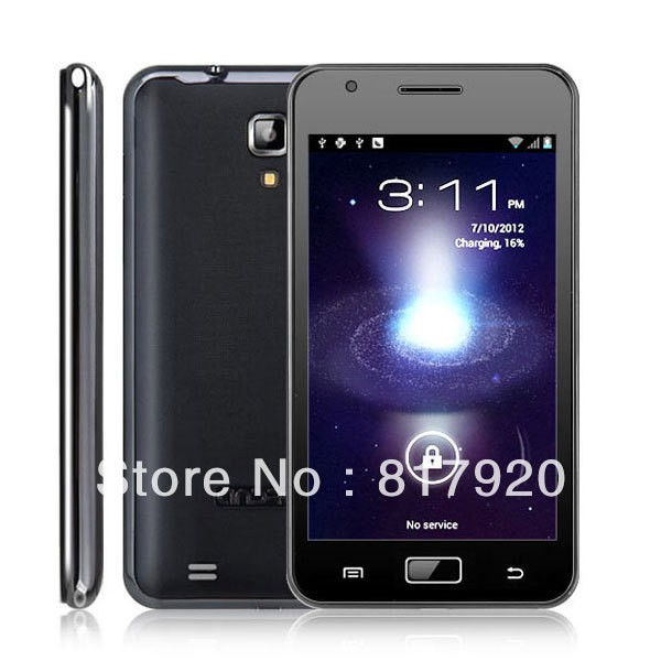 Top Quality Unlocked N9000+ Android 4.0 Android Note 3G Smartphone with 5.0 inch WVGA Screen Dual SIM MTK6575 Black Free Posting(China (Mainland))