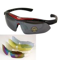 2012 New UV400 Cycling Bicycle Bike Sports Goggles Sun Glasses + 5 glasses lenses