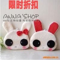Plush toy rabbit coin purse bag cloth mobile phone bag gift