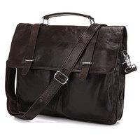 JMD Vintage Genuine real leather Men buiness handbag laptop briefcase shoulder bag / man messenger bag JMD6057J-316