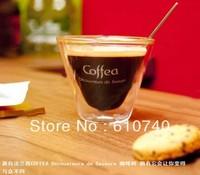 1pcs/lot bodum стиль двустенных sglass кофе Кубок, кружка, чашка, термо стекло стакана 75 мл