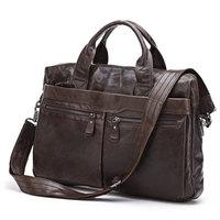 JMD Vintage Genuine real leather Men buiness handbag laptop briefcase shoulder bag / man messenger bag JMD7122-300