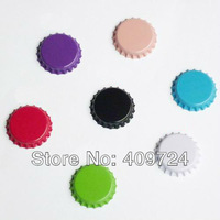 """New Arrival&Free Shipping:""""3500 pcs/lot"""" Crown Double-side Colored Bottle Caps For DIY Crafts Making 7 Colors For Choice"""