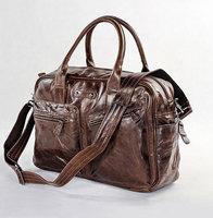 JMD Vintage Genuine real leather Men buiness handbag laptop briefcase shoulder bag / man messenger bag JMD7142C-345