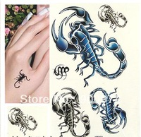 10 piece Free shipping scorpion tattoo stickers