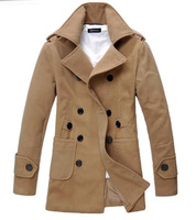 New Fashion Man long Jacket  male cotton double-breasted  coat  winter coat  201208124