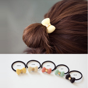 1818 candy color rabbit bow hair accessory solid color headband hair rope tousheng hair accessory female