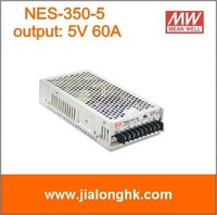 Free Shipping- NES-350-5  switching power supply output  5V 60A  meanwell  nes-350-5 -New and original .