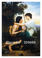 "Free Shipping (1 piece/pieces) Giclee Printed On Canvas camille felix bellanger Oil Painting ""Idylle"" Decoration Scenery Love"