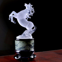 Engaging  Shining  Fancy Horse decoration white horse crafts decorations home accessories qy458