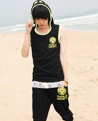 2013 Summer New Arrivals Sleeveless Men's Track Suit Printing Sports Wear(China (Mainland))