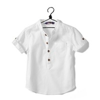 2013 new summer children shortsleeve t shirts cotton white boys shirts 5 size for 2 to 8year 5pcs/lot freeshipping