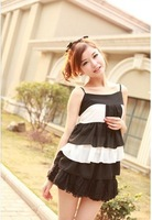 2013 New Arrival Women's Fashion Sweet Pure Color falbala Chiffon Vest,Free Shipping