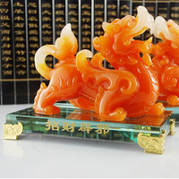 Engaging  Shining  Fancy Lucky pi xiu decoration Large jade pi xiu decoration a pair of evil spirits opening gifts