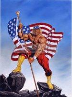 Joe Jusko's WWF Paintings Strange Kids Club Figure oil painting artwork,hand painted Strong man portrait oil paintings on