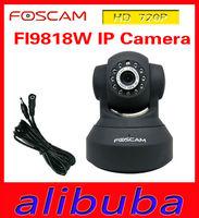 Foscam FI9818W 720P HD Wi-Fi IP camera h.264 wireless webcam with IR-CUT switch 2.8mm lens free DDNS black