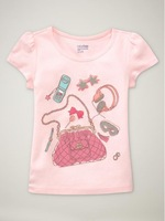 FREE SHIPPING baby t-shirt,wholesale 6pcs/lot boy's tshirt,baby tees   5355 cute girls wear