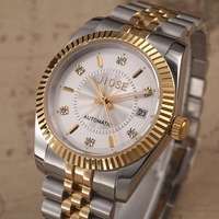 Watch fully-automatic mechanical watch 18k gold stainless steel luminous mens watch rhinestone vintage