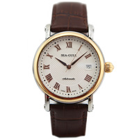 Seagull seagull watch fully-automatic mechanical watch commercial male table single genuine leather watchband 219.365
